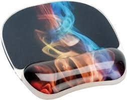 <b>Коврик</b> для мыши Fellowes Photo Gel Радужный дым