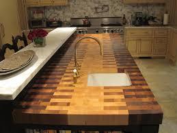 diy tile kitchen countertops: diy end grain butcher block countertops
