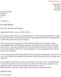 Sales Advisor Cover Letter Example   icover org uk icover org uk