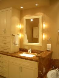 decoration trendy bathroom vanity mirror combo with small wall mounted medicine cabinet alongside white glass lamp bathroom lighting ideas pinterest