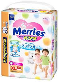 Merries <b>трусики XL</b> (12-22 кг) 50 шт. — купить по выгодной цене ...