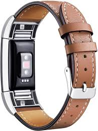 Cowhide <b>Genuine leather</b> fashion Replacement <b>strap band for</b> Fitbit ...