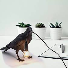 <b>Auspicious bird table lamp</b> personality creative bedroom bedside ...