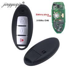 <b>jingyuqin Smart Remote</b> Car Key 315MHz ID46 pcf7952 or NISSAN ...