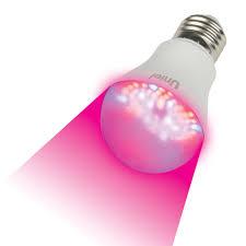 Светодиодная <b>лампа</b> для растений <b>Uniel LED</b>-<b>A60</b>-<b>9W</b>/<b>SP</b>/<b>E27</b>/<b>CL</b> ...