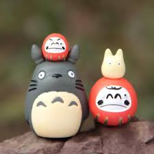 <b>4 pcs</b>/<b>set</b> Studio Ghibli My Neighbor Totoro DIY <b>Resin</b> Figure Home ...