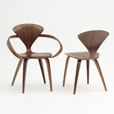 cherner armchair cac01 classic walnut with cherner side chair cherner furniture