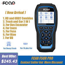 Fcar <b>F506 Pro HD Diesel</b> Truck OBD2 Scanner Heavy Duty Truck ...