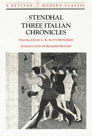 new directions publishing company stendhal cover image for three italian chronicles