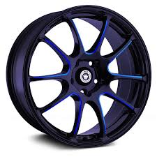 <b>KONIG</b>® <b>ILLUSION</b> Wheels - Black with Blue Ball Cut Machined ...