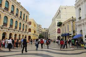 essay in the las vegas of asia lessons in how multiculturalism senado square in macao a unesco world heritage site tiled walks portuguese styled government buildings and designer shopping