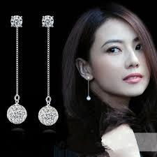 <b>TJP</b> Trendy <b>925</b> Sterling <b>Silver</b> Drop Earrings For Girl Bride Wedding ...