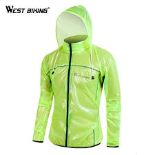 WEST <b>BIKING Reflective Cycling Raincoat</b> Windproof <b>Waterproof</b> ...