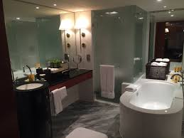 bathroom suite mandarin: the art deco bathroom of the tamar suite is rather a contrast to the rest of the suite but stunning