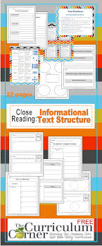 informational text archives the curriculum corner  close reading informational text structures