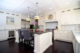 Small Picture Dark wood floors in kitchen white cabinets