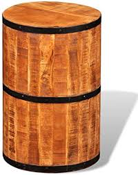 vidaXL <b>Antique Style Reclaimed Solid</b> Wood Cylinder Decor Sitting ...