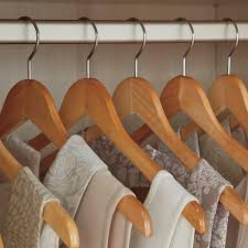 <b>Wood Hangers</b> - Basic <b>Natural Wooden Hangers</b>   The Container Store