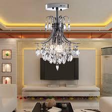 2 -Head <b>Modern Crystal Chandelier</b> Light for <b>Living</b> Room E12/E14 ...