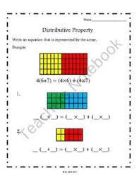 Multiplication, Multiplication worksheets and Worksheets on PinterestDistributive Property (Common Core Aligned) product from Third Grade Teacher on TeachersNotebook.com