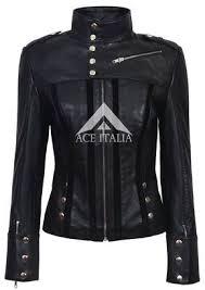 Ladies 4520 Black <b>Slim</b> Fit Suede Sheep Biker Napa Genuine Soft ...