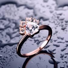 Online Shop ZHE FAN White Violet AAA Cubic Zirconia Ring ...