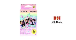 <b>FUJIFILM</b> INSTAX Mini <b>Shiny Star</b> Instant <b>Film</b> 16404193 B&H Photo