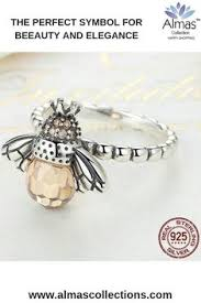 """<b>New 925 Sterling Silver</b> Orange Bee Ring NS1 NS3 in 2019 