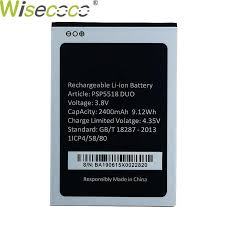 wisecoco 2900mah new battery for inoi 2 lite inoi2 phone high quality battery tracking number