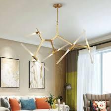 <b>Modern</b> 10 <b>Lights</b> Glass Branch <b>Chandelier G9</b> Bulb Pendant <b>Light</b> ...