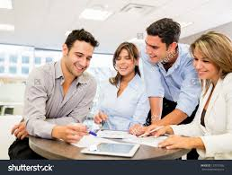 business people working team office stock photo  business people working as a team at the office