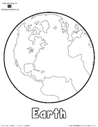 Small Picture Free Earth Printable Outlines and Shape Book Writing Pages http
