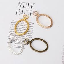 *J  *5Pcs <b>Oval Pocket Watch</b> Metal Frames Open Back Bezel DIY ...