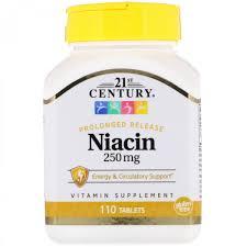 B3 <b>Ниацин</b> 21st Century, <b>Ниацин</b>, <b>250 мг</b>, 110 таблеток - купить ...