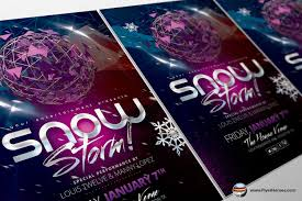 flyer heroes flyerheroes winter flyer templates collection snow storm flyer template