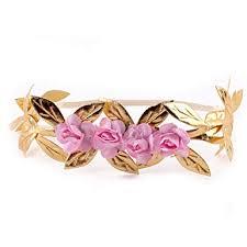 Merroyal Fashion <b>Baby</b> Gold Leaf <b>Flower Headband</b> Hair Bands