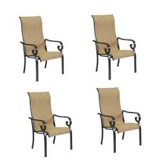 comfortable patio chairs aluminum chair: garden treasures rollingsford  count bronze aluminum stackable patio dining chairs