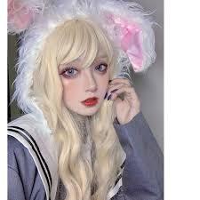 <b>MANWEI Lolita</b> 60CM long Curly Blonde Doll Japan Bangs Fringe ...