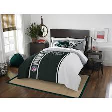 3 Piece NFL Full New York Jets Applique Football Team Comforter ...