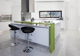 a stripe of green adds edge to a simple white kitchen scheme design house kitchen design house lighting