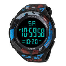 <b>HONHX Men's Sports</b> Digital Watch Military Army Waterproof Wrist ...