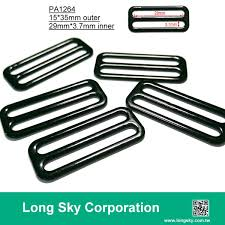 (PA1344/29mm inner) black e shape metal <b>bra</b> slide and strap hook ...