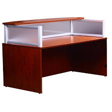 boss office products n269g plexiglass reception desk boss office products plexiglass reception
