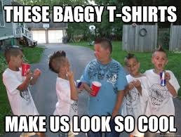 these baggy t-shirts make us look so cool - Cool Little Kids ... via Relatably.com