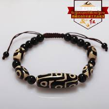High quality Tibet Dzi Beads <b>Bracelet Natural Stone</b> 9 eyes and 3 ...