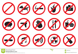 Image result for Prohibition Symbols