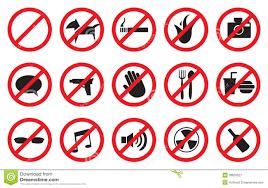 Image result for Prohibition Symbols