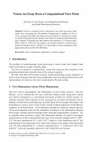 of view essay point of view essay