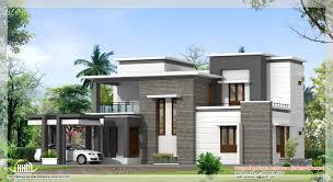 Sq  feet contemporary villa plan and elevation   Kerala home    Contemporary villa flat roof  See Floor Plans