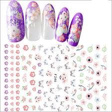 <b>1pcs</b> nail art 3d <b>flower</b> sticker beautiful <b>flower butterfly</b> lovely bird ...